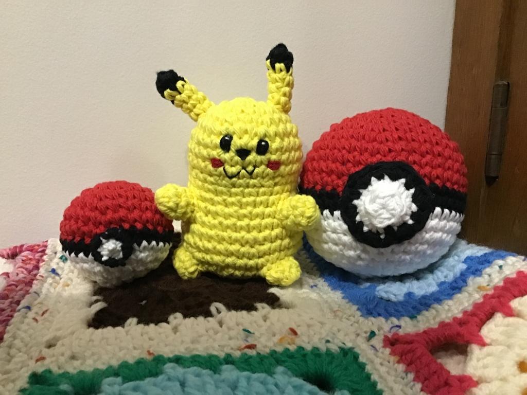 Pikachu and pokeballs