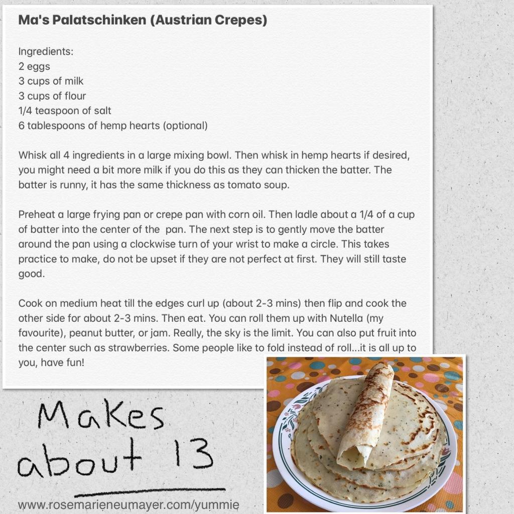 Recipe picture of Ma's Palatschinken (Austrian Crepes)
