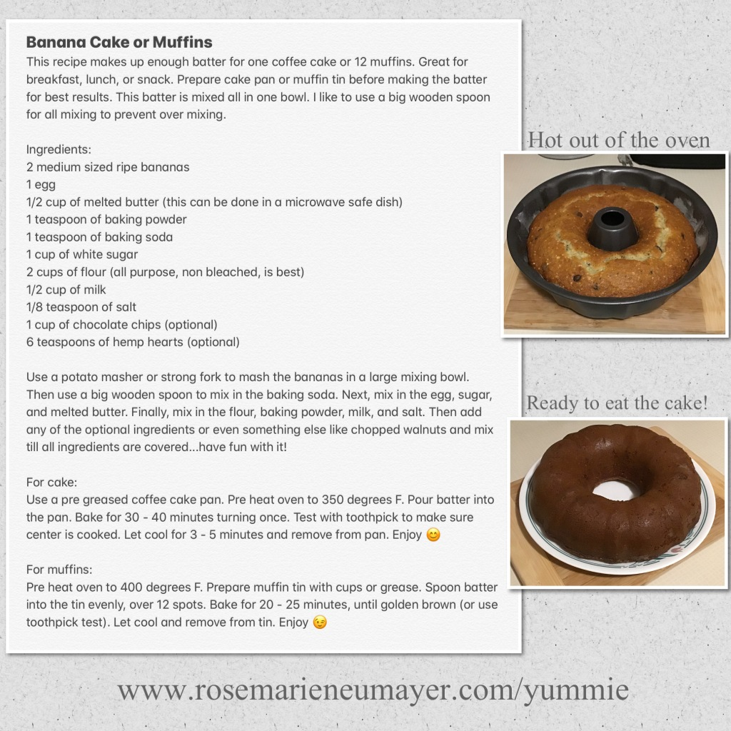 Recipe picture of Banana cake or muffins