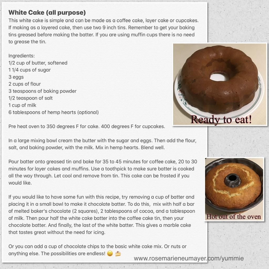 Recipe picture of White cake (all purpose)