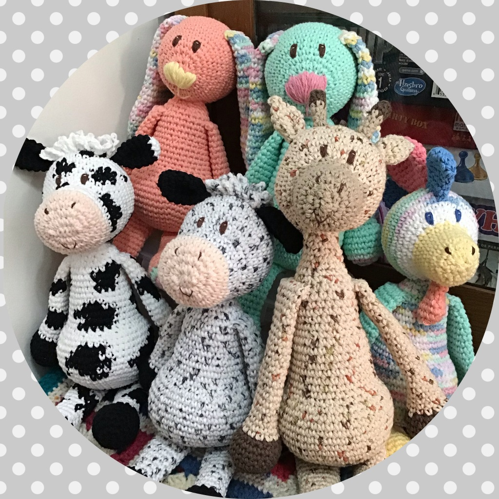 Group picture of modified Edward's Menagerie stuffies