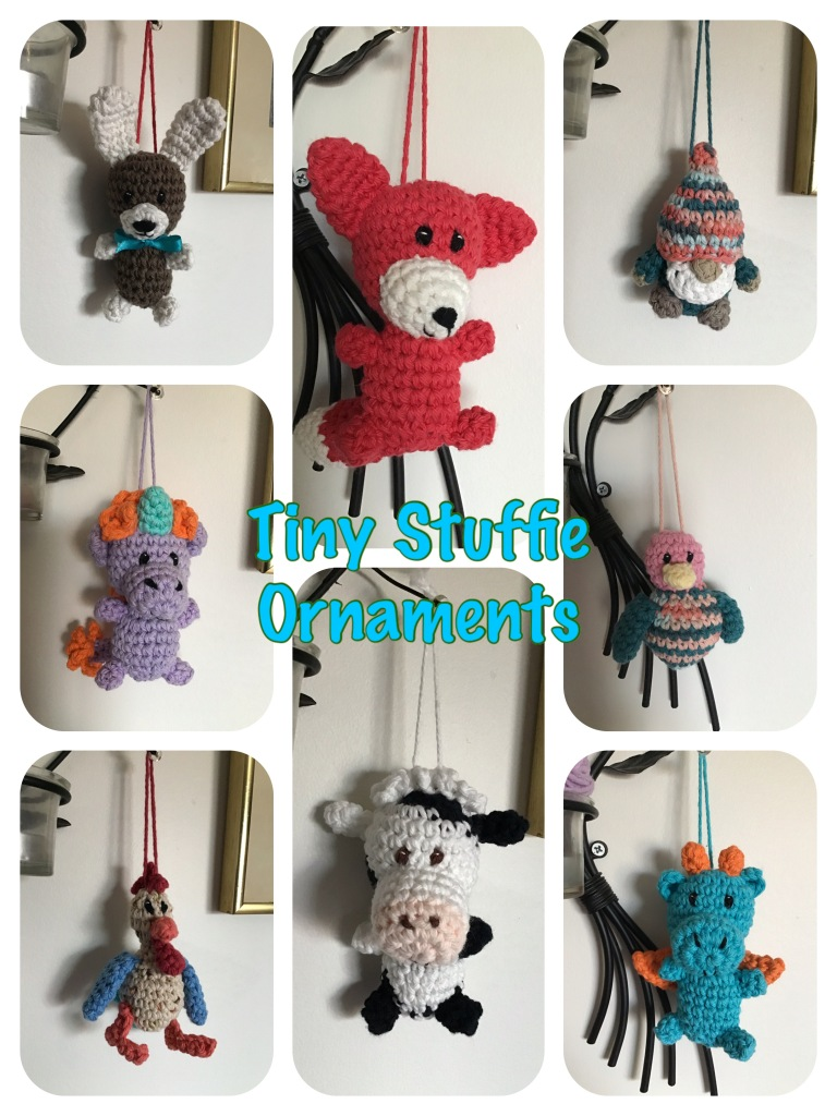Tiny stuffie ornaments for hanging any where