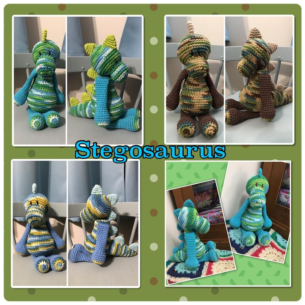 Stegosaurus crochet stuffie