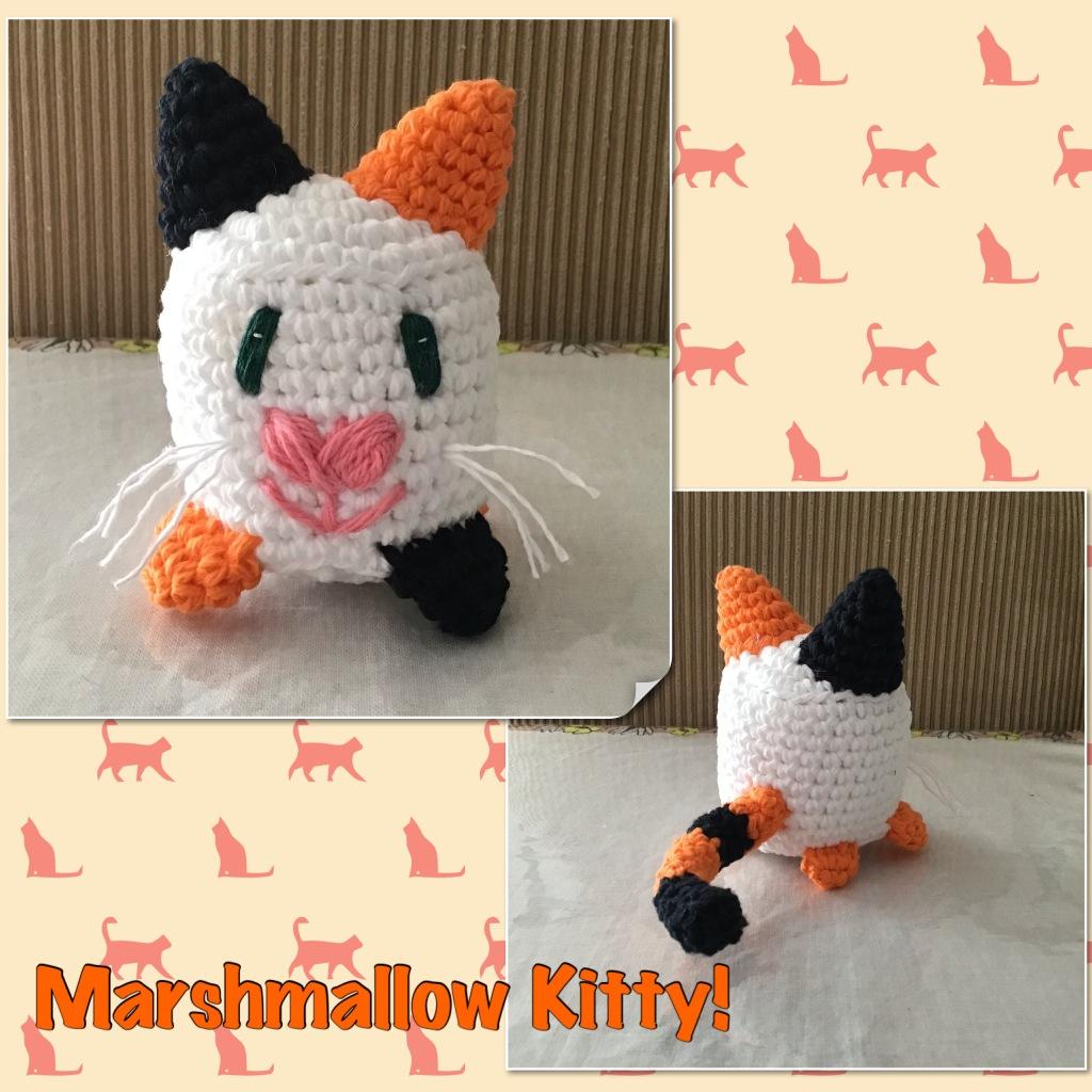 Marshmallow kitty stuffie
