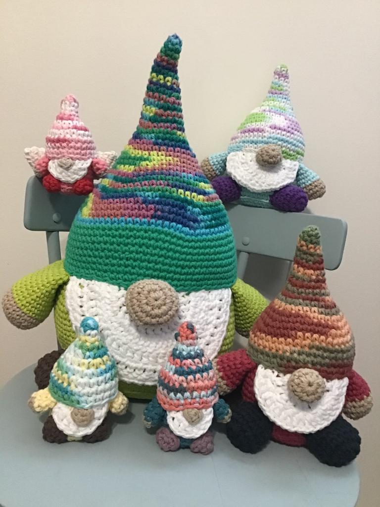 Gnomes stuffies! Huge, medium and tiny sizes