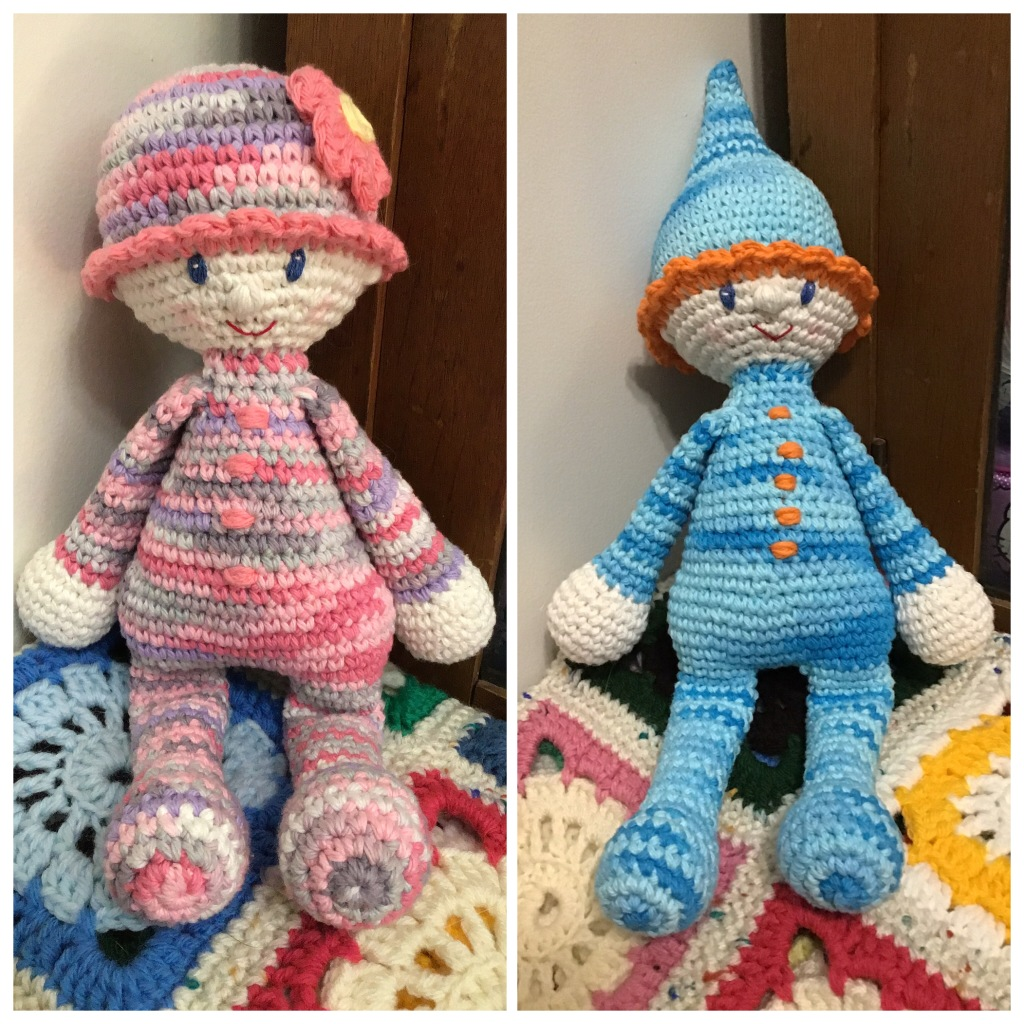 Baby stuffie dolls, girl and boy