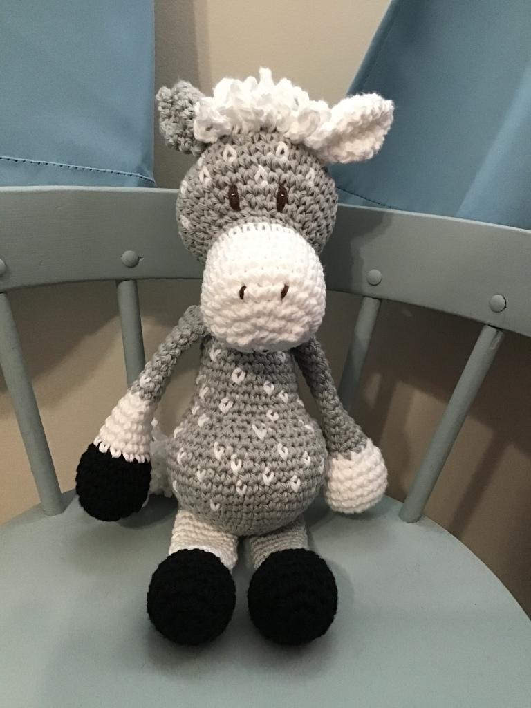 Dapple grey pony stuffie