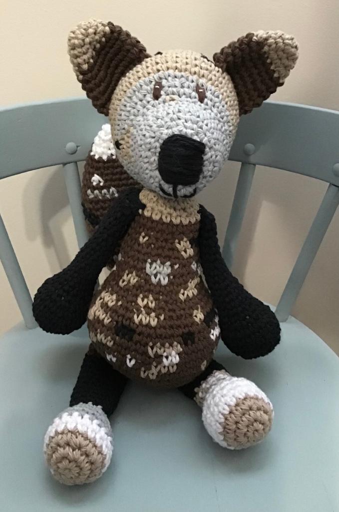 Brown fox stuffie
