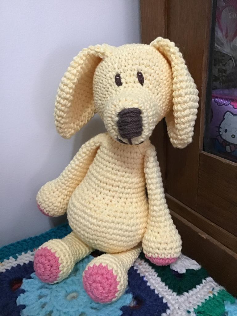 Lab puppy crochet stuffie